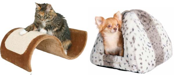 škrabadlo pro kočky a boudička pro psy