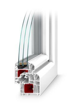 šestikomorové plastové okno