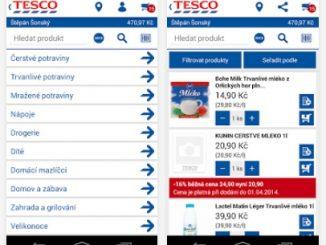 aplikace Tesco online