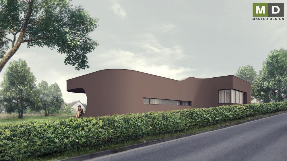 luxusní bungalov s plochou střechou