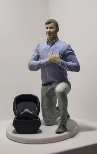 3D figurka svatebni